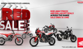 Honda Red Sale on Now at Escape Motorcycles